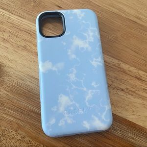 light blue skies marble clouds iphone 11 case
